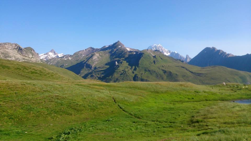 Col du Petit Saint Bernard - skvělé místo na probuzení.