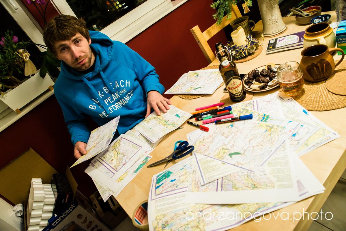 Map preparation.