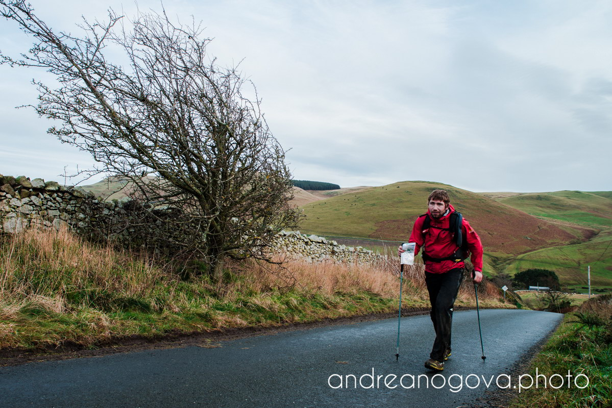 Last hill before Kirk Yetholm.