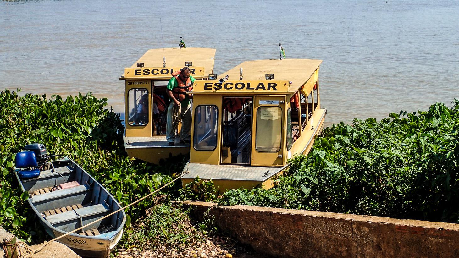 Školní bus, teda loď.