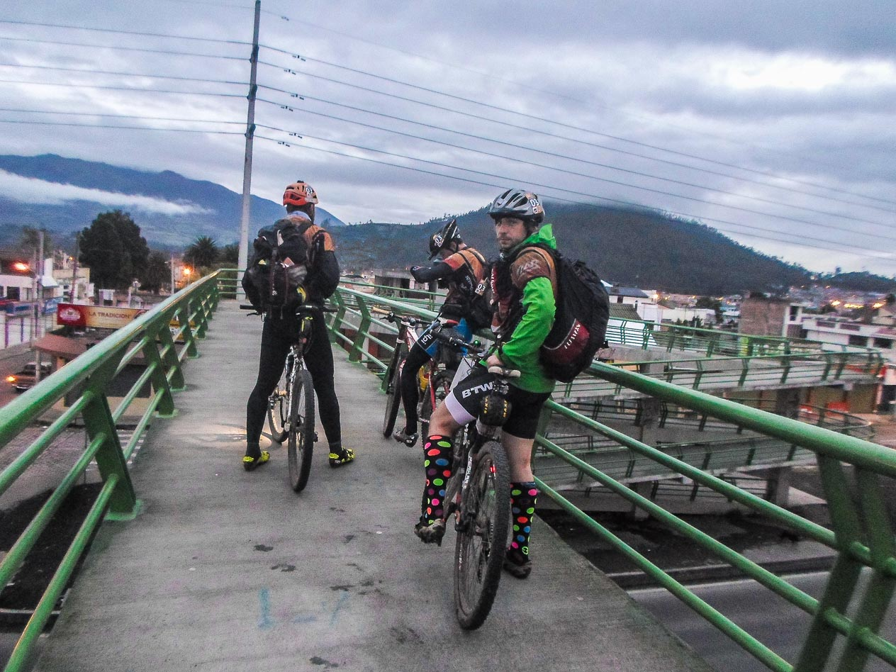 Crossing Panamerican Highway.