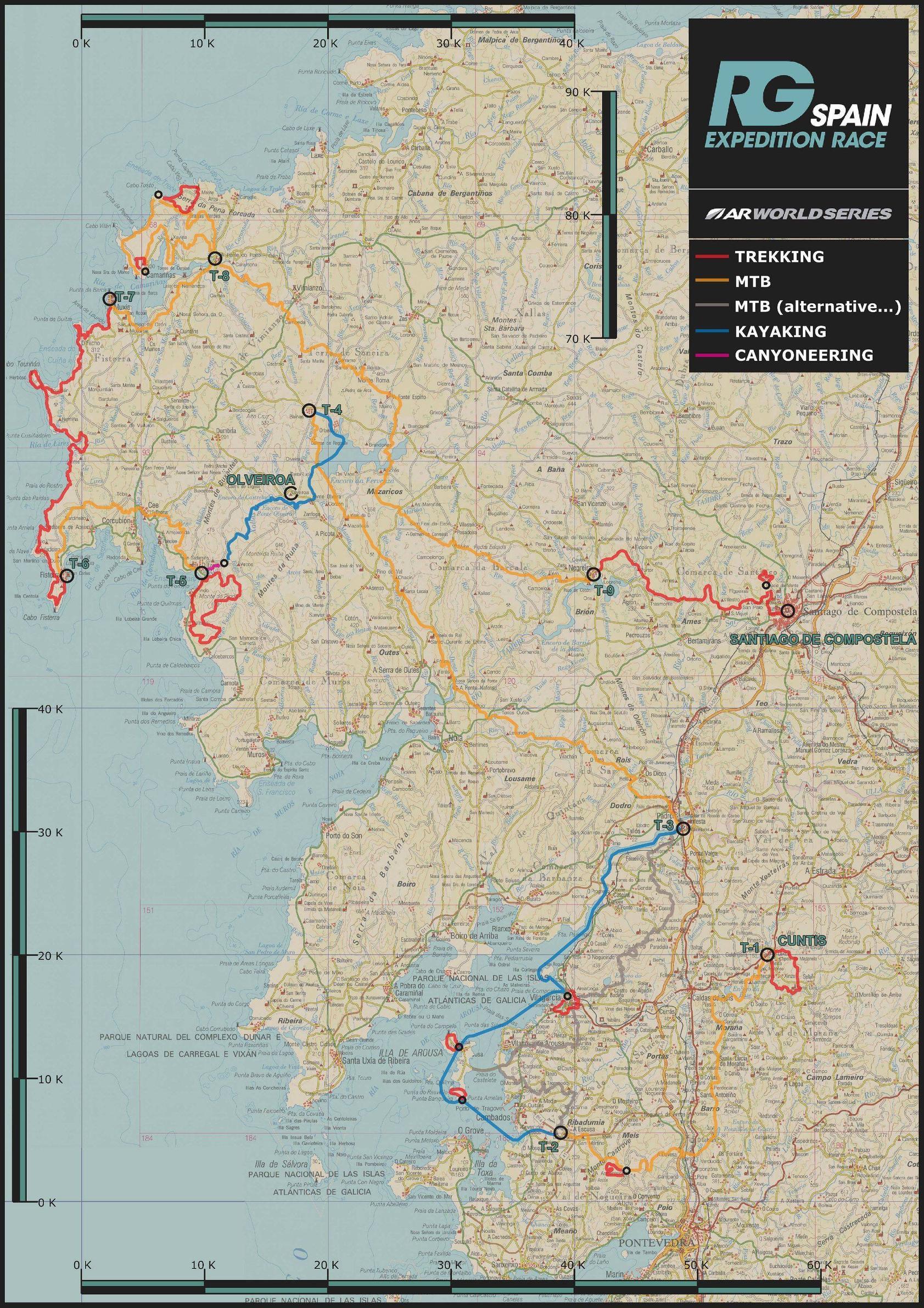 Mapa závodu.