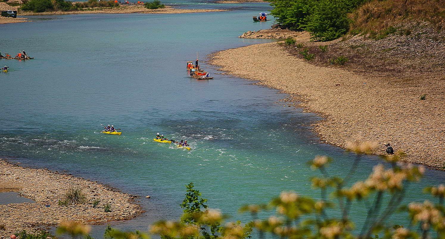 Pádlování na řece