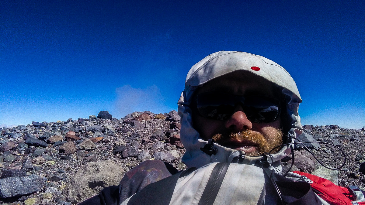 Na vrcholu San José - -15 a vítr.